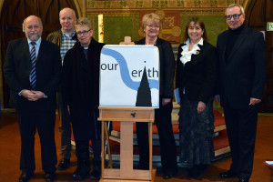 [From L to R]: Paul O'Neill (Friends of Christ Church Erith Committee), Jim Bennett (Chair, Friends of Christ Church Erith), Revd. Julie Conalty (Christ Church, Erith), Leeni Lear (Chair of Governors, Bexley College), Teresa Pearce MP (Member of Parliament for Erith and Thamesmead) and Ken Chamberlain (local historian).