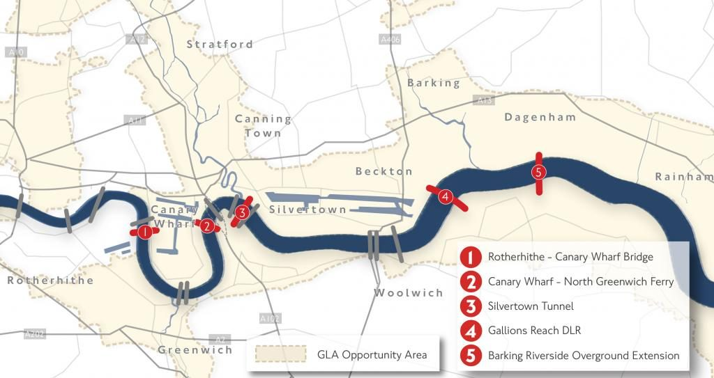 The new Transport for London proposals for River Crossings